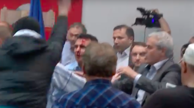 Demonstrators storm Macedonian parliament